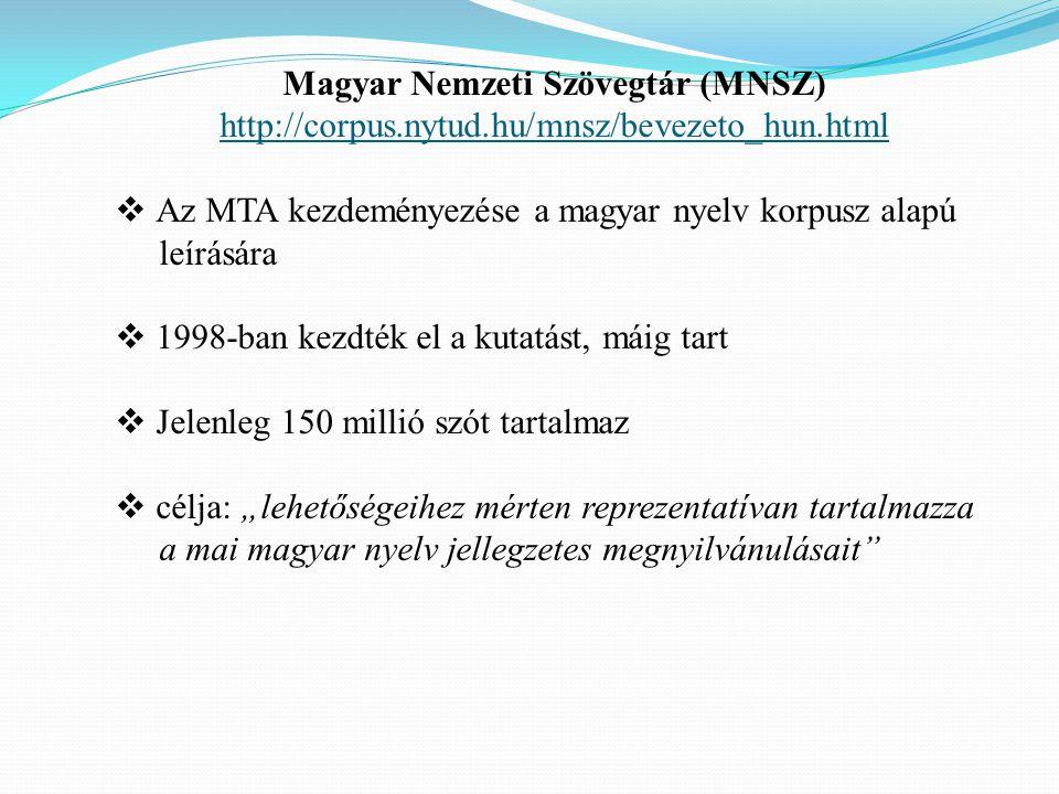 Magyar Nemzeti Szövegtár (MNSZ)