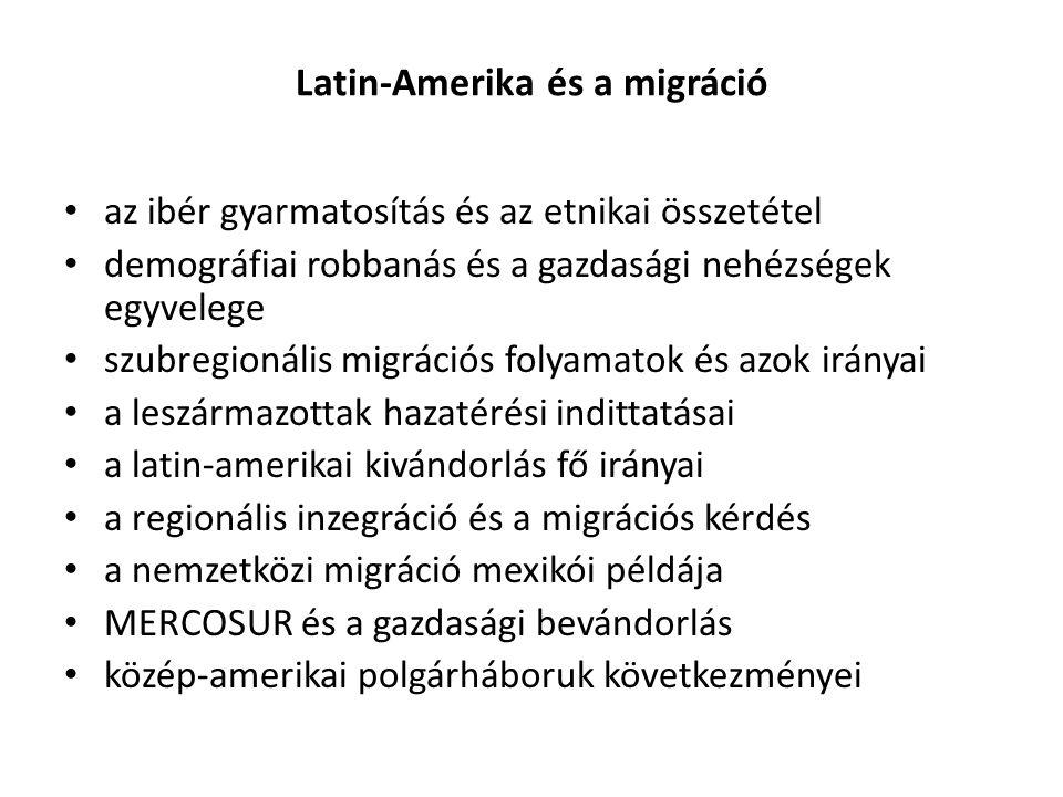 Latin-Amerika és a migráció