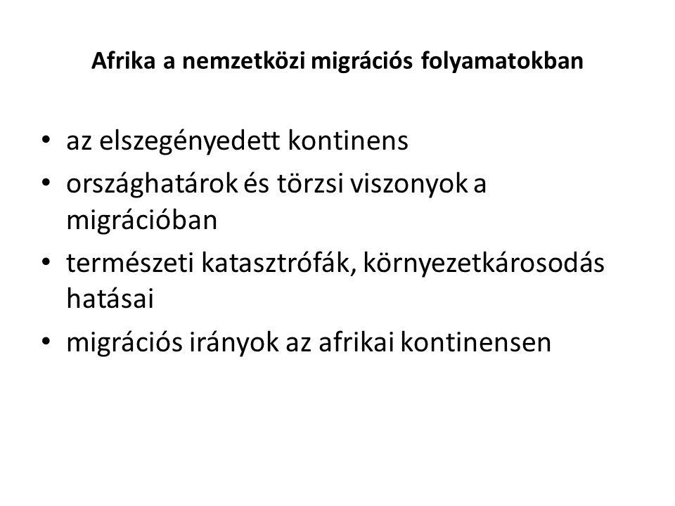 Afrika a nemzetközi migrációs folyamatokban