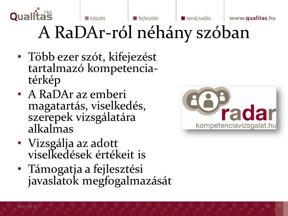 A RaDAr-ról néhány szóban