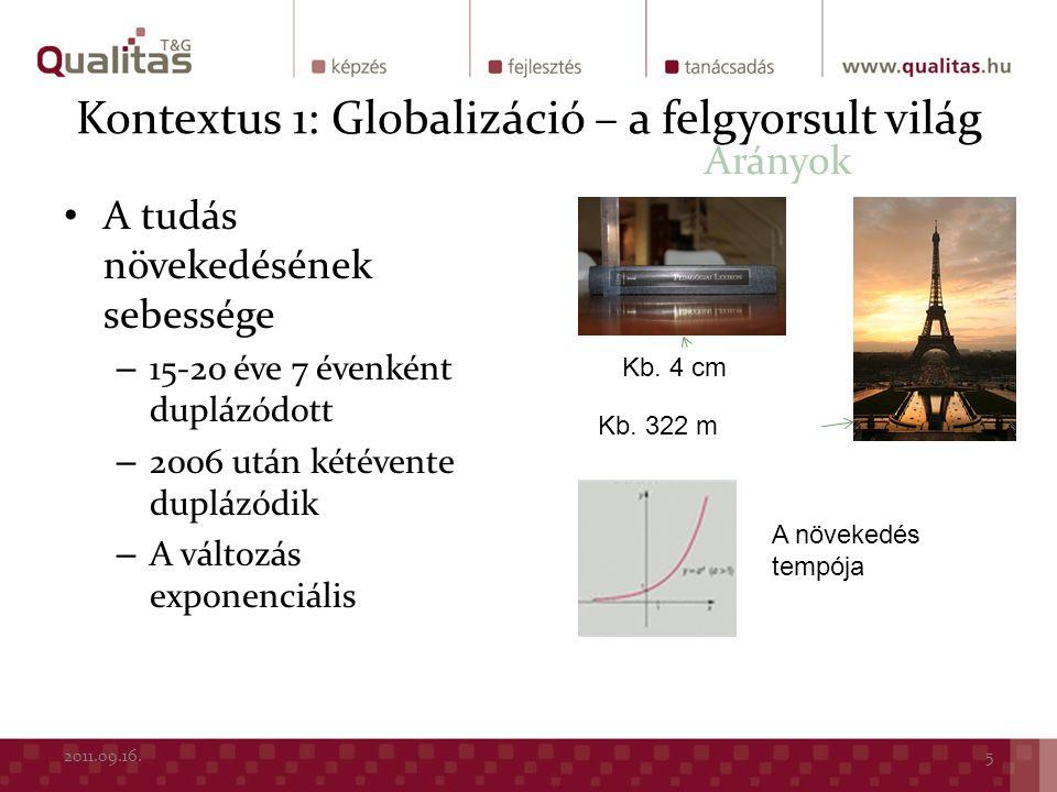 Kontextus 1: Globalizáció – a felgyorsult világ