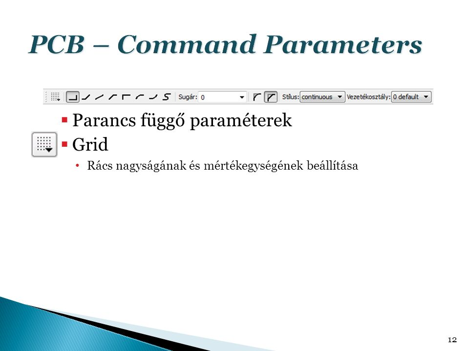 PCB – Command Parameters