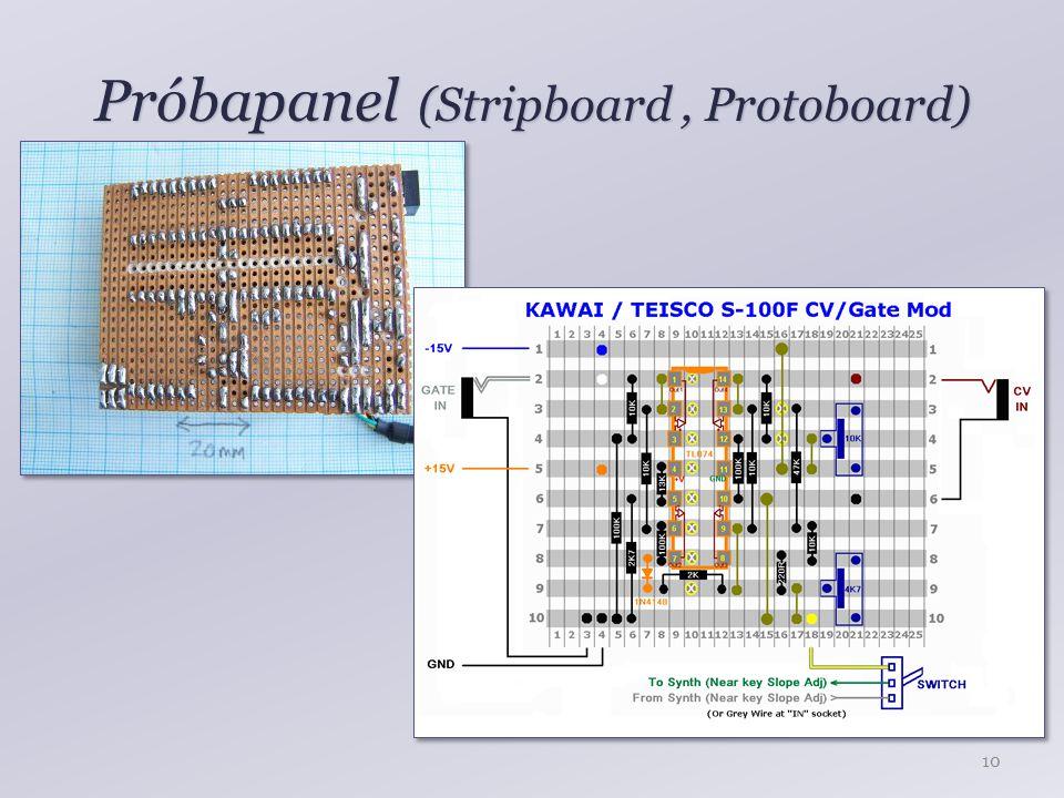 Próbapanel (Stripboard , Protoboard)