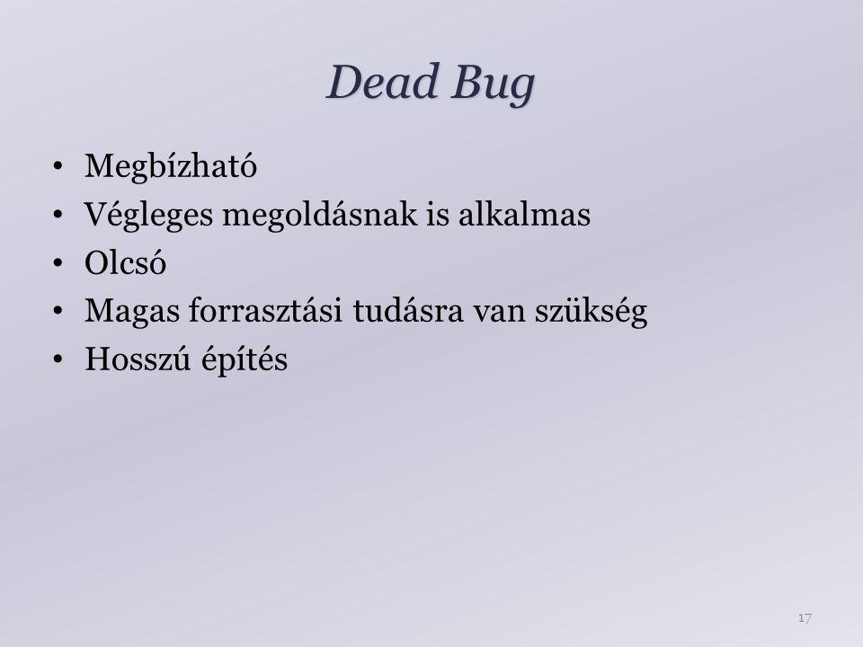 Dead Bug Megbízható Végleges megoldásnak is alkalmas Olcsó