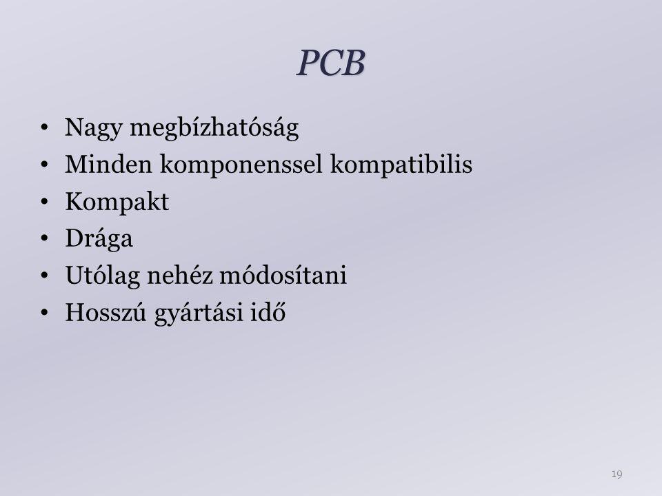 PCB Nagy megbízhatóság Minden komponenssel kompatibilis Kompakt Drága