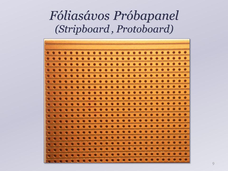 Fóliasávos Próbapanel (Stripboard , Protoboard)