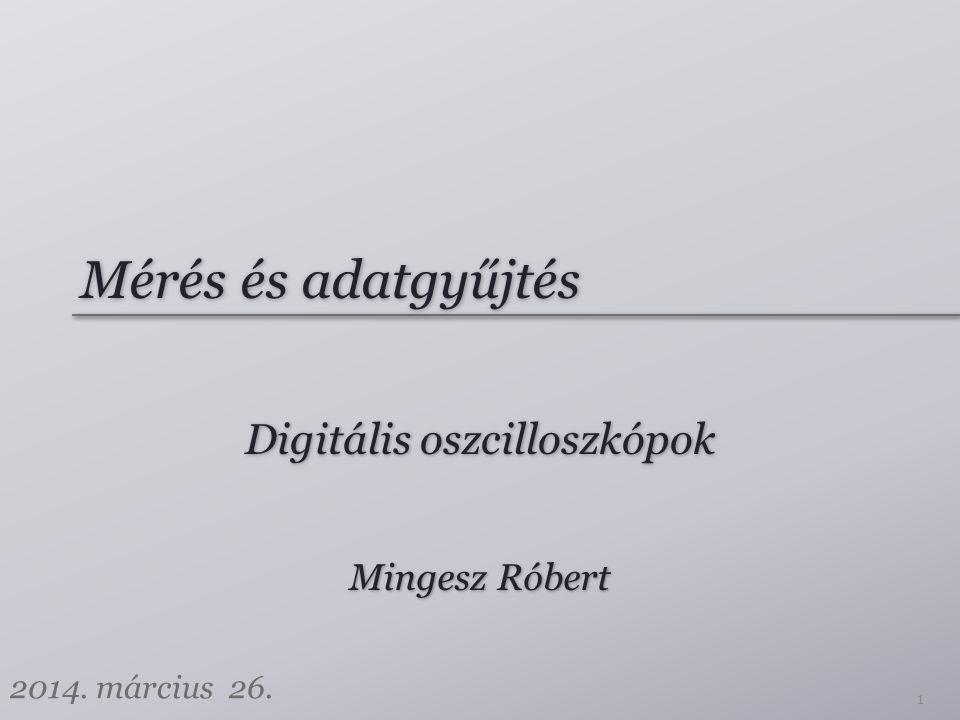 Digitális oszcilloszkópok
