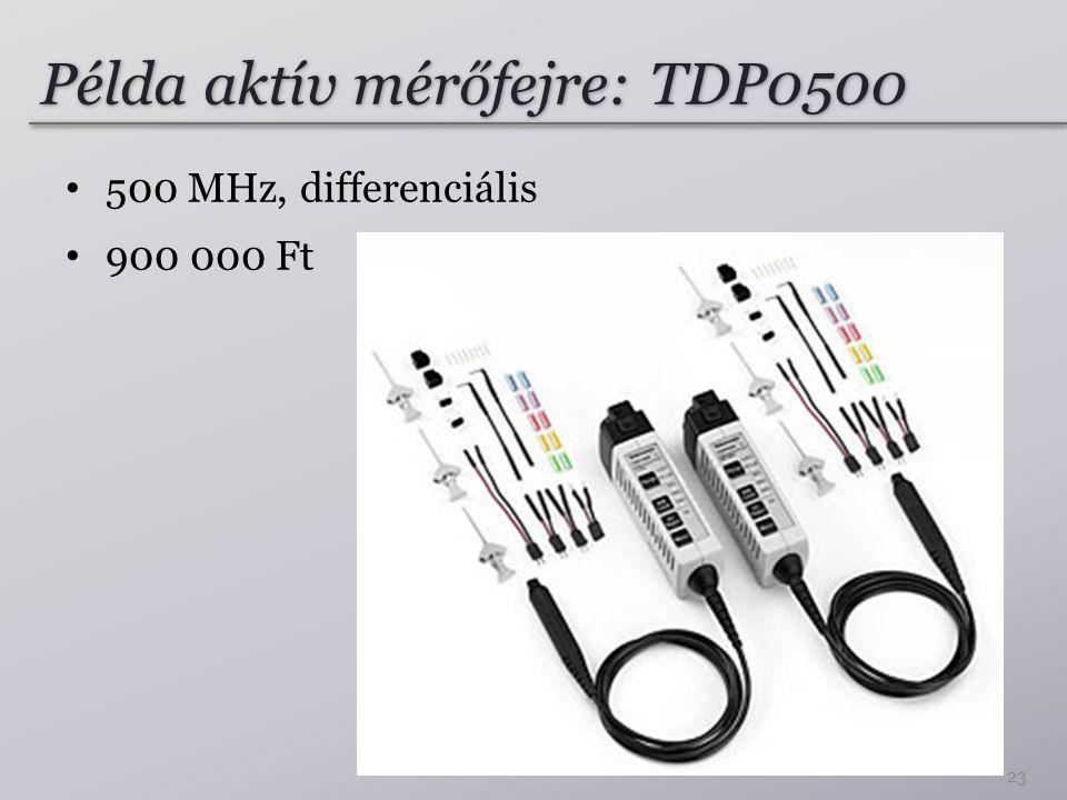 Példa aktív mérőfejre: TDP0500