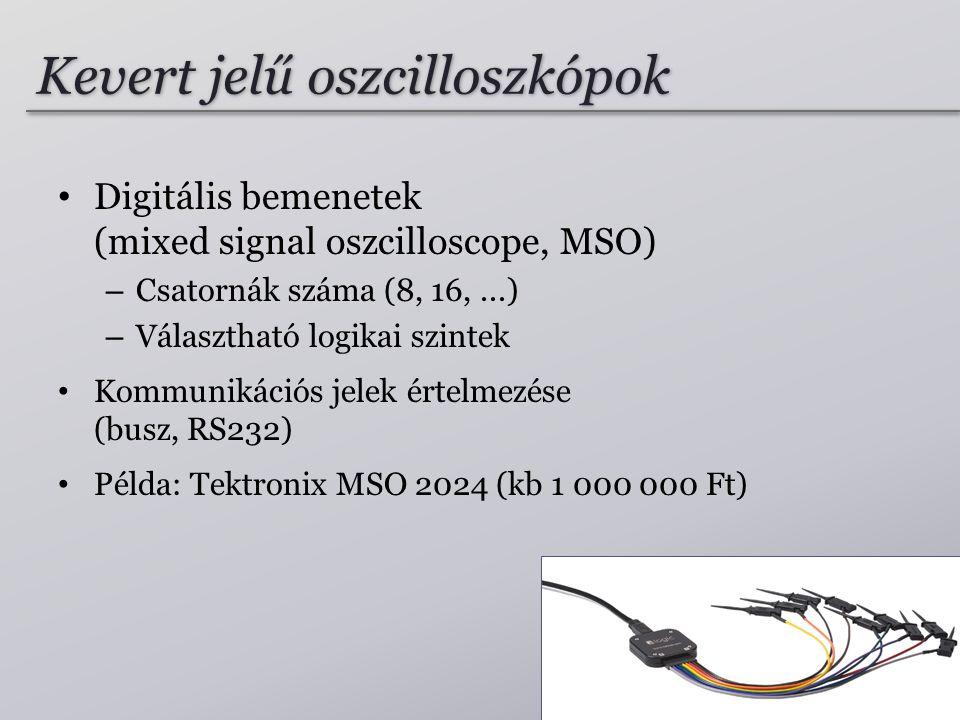 Kevert jelű oszcilloszkópok