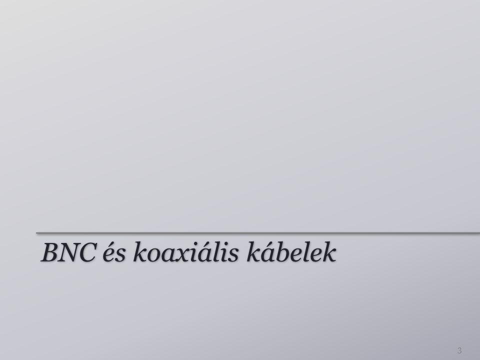 BNC és koaxiális kábelek