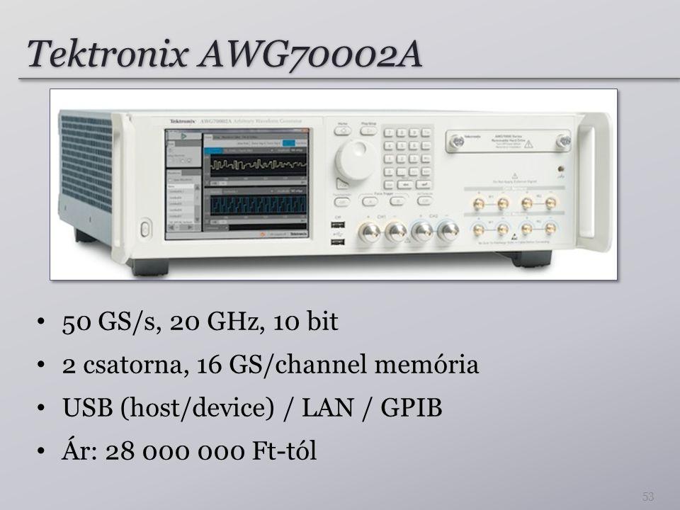 Tektronix AWG70002A 50 GS/s, 20 GHz, 10 bit