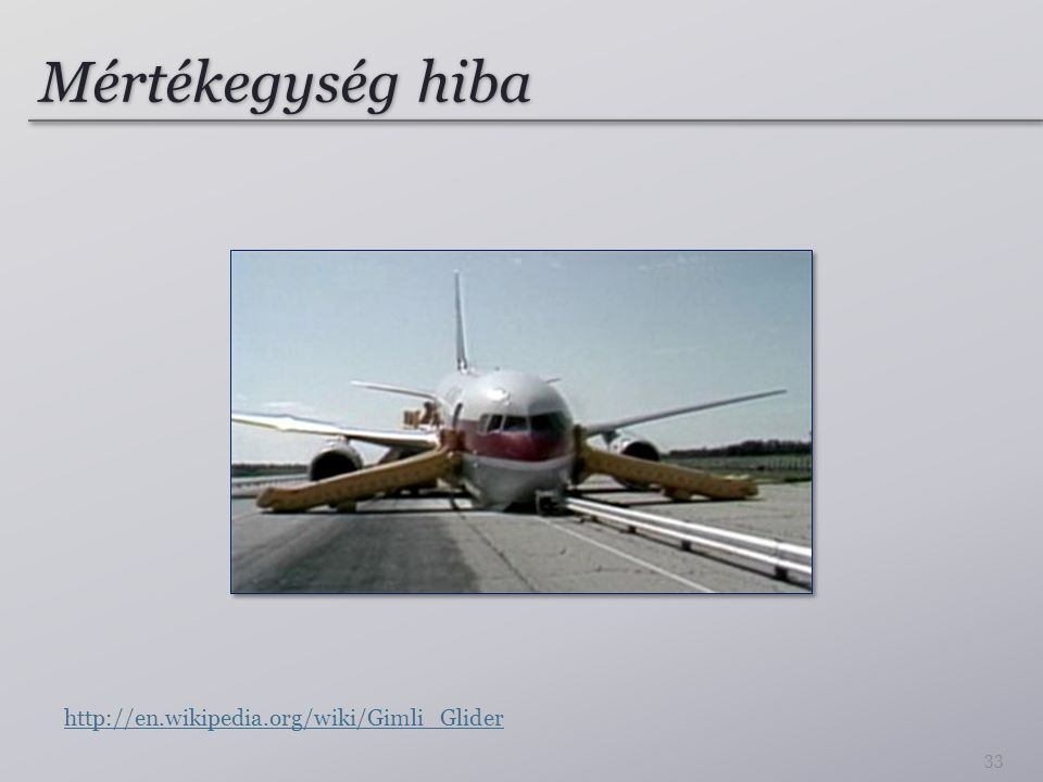 Mértékegység hiba http://en.wikipedia.org/wiki/Gimli_Glider