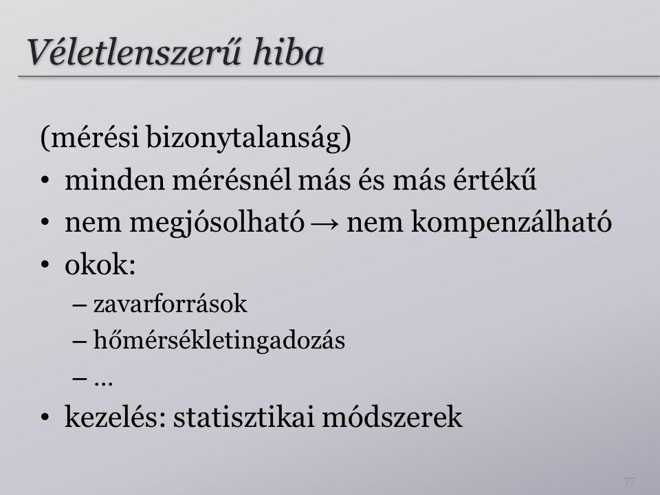 Véletlenszerű hiba (mérési bizonytalanság)