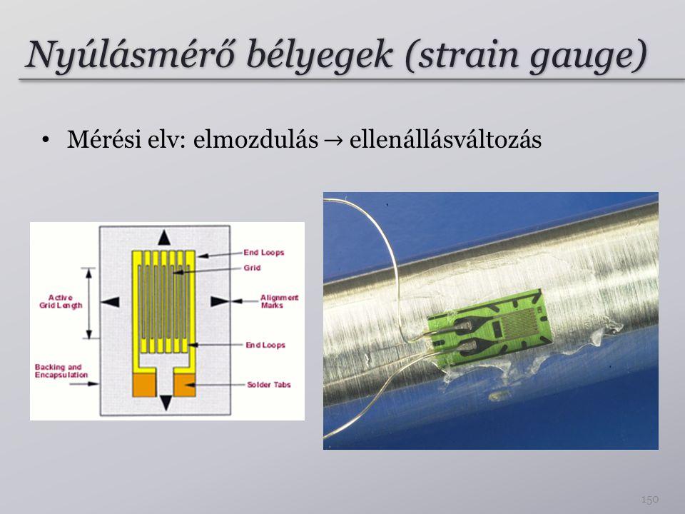 Nyúlásmérő bélyegek (strain gauge)
