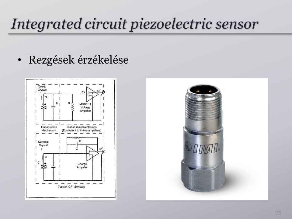 Integrated circuit piezoelectric sensor