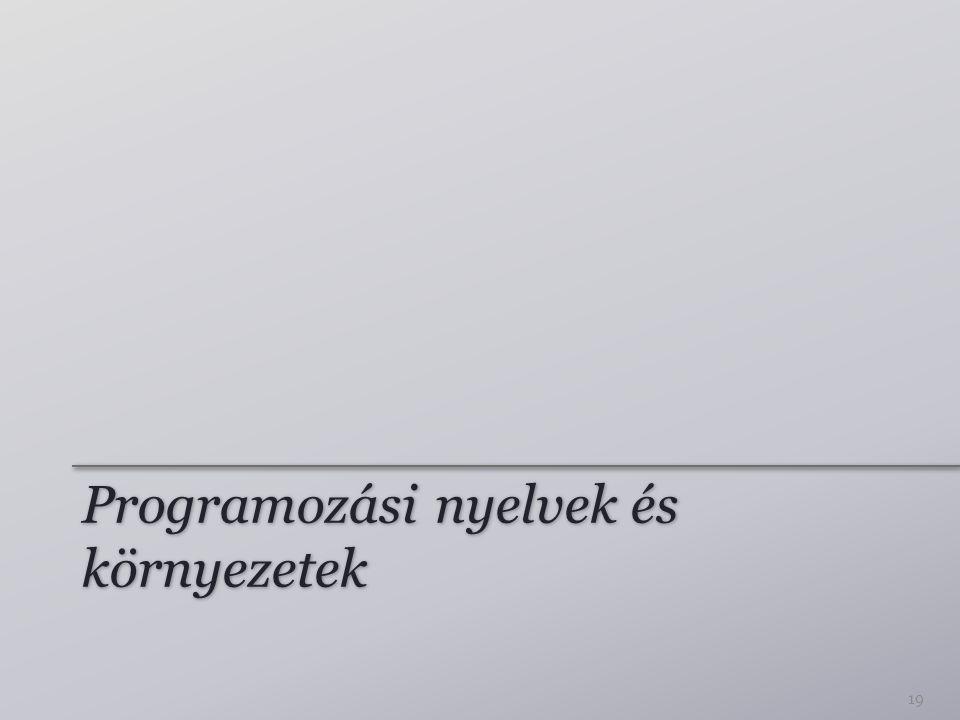 Programozási nyelvek és környezetek
