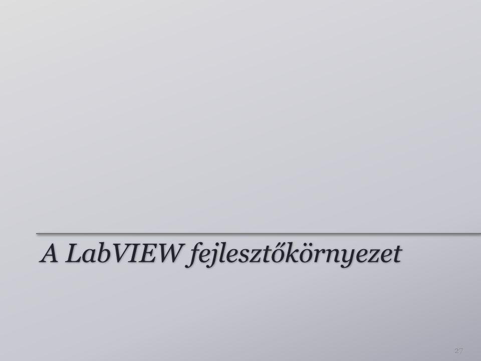 A LabVIEW fejlesztőkörnyezet