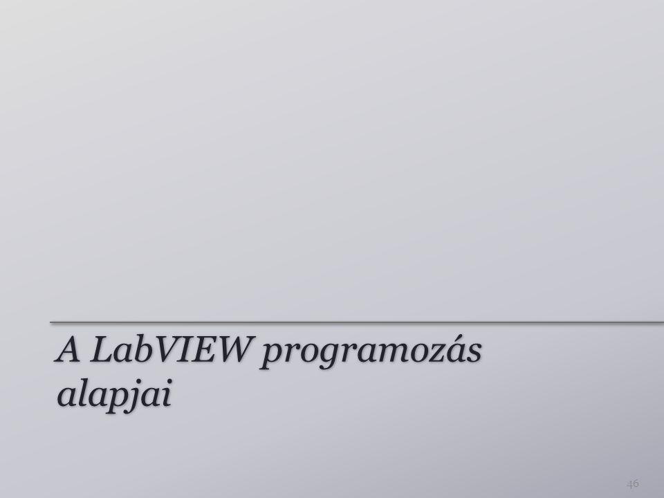 A LabVIEW programozás alapjai