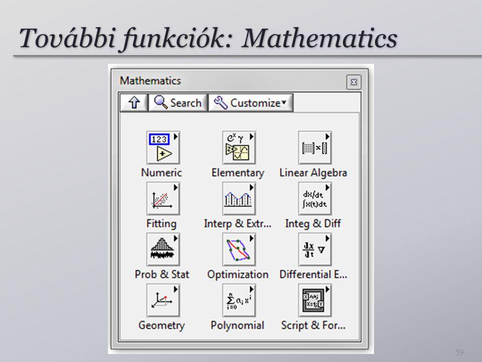 További funkciók: Mathematics