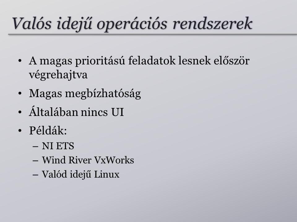 Valós idejű operációs rendszerek