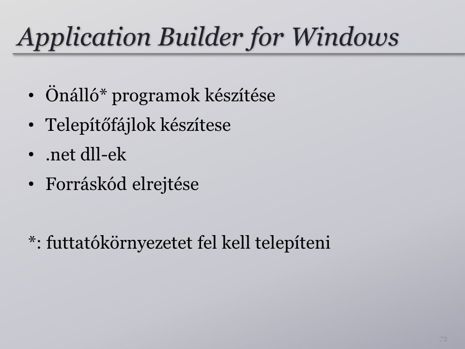 Application Builder for Windows
