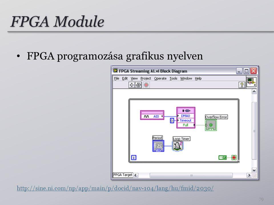 FPGA Module FPGA programozása grafikus nyelven