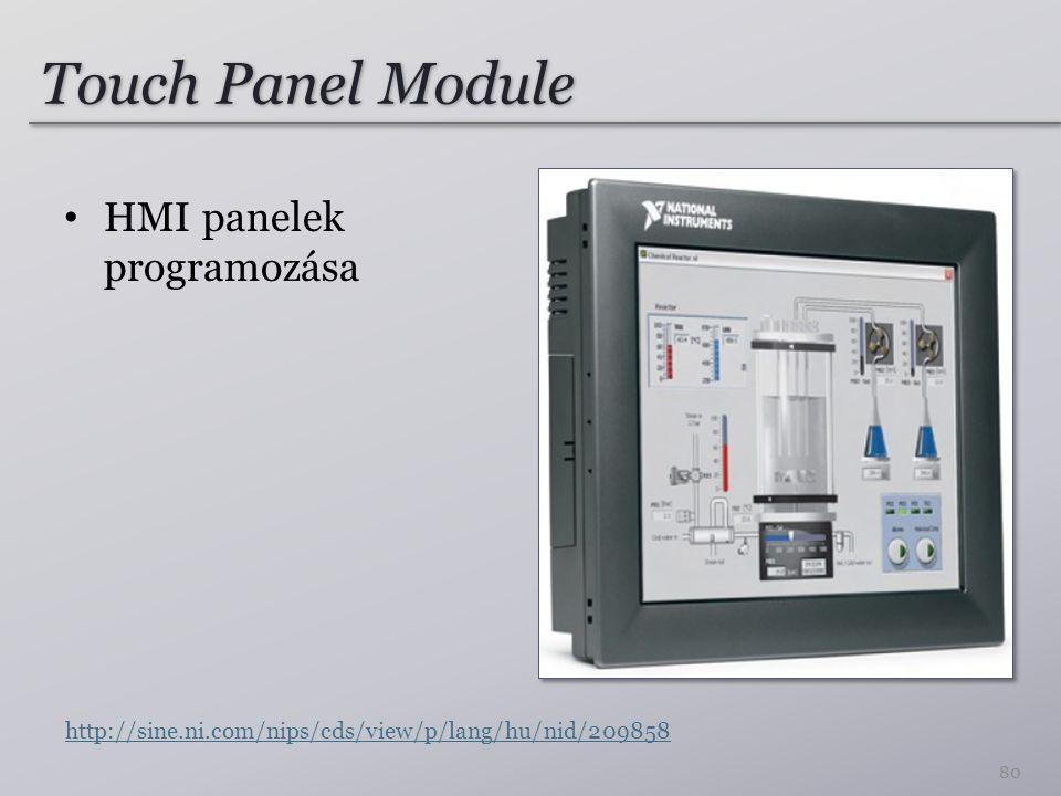 Touch Panel Module HMI panelek programozása