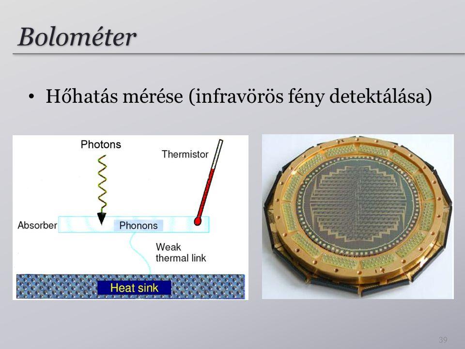 Bolométer Hőhatás mérése (infravörös fény detektálása)