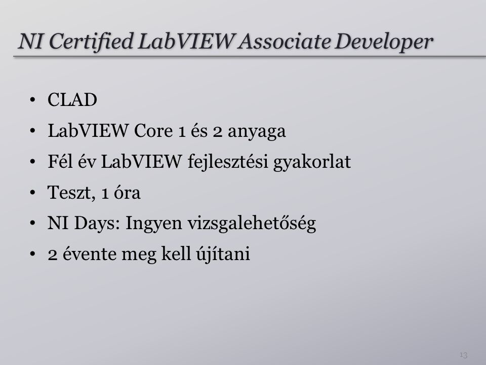 NI Certified LabVIEW Associate Developer