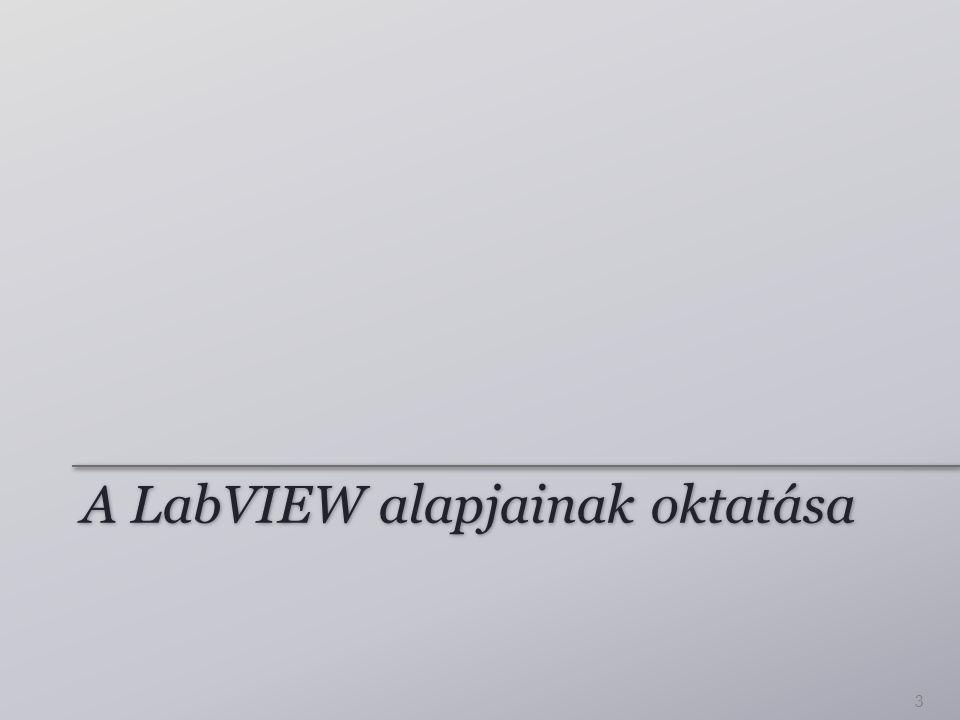 A LabVIEW alapjainak oktatása