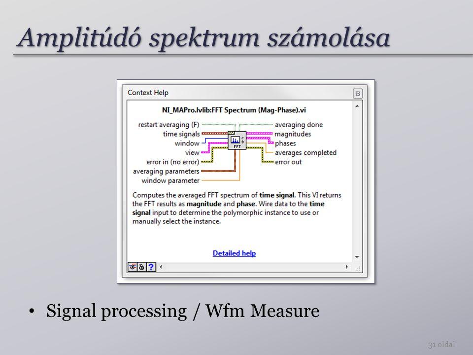 Amplitúdó spektrum számolása
