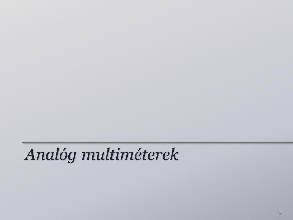 Analóg multiméterek