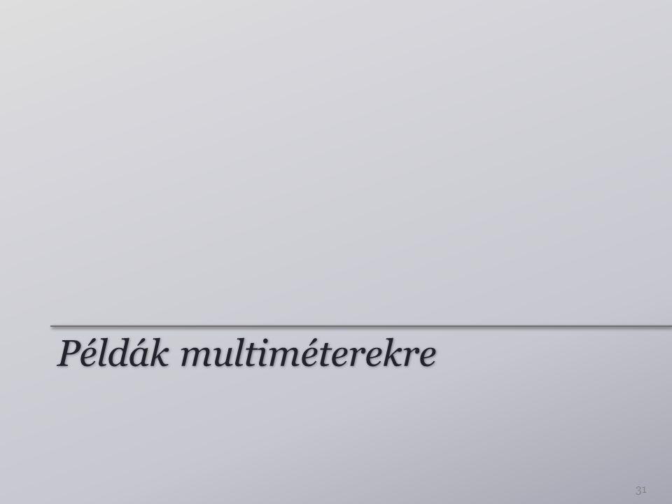 Példák multiméterekre