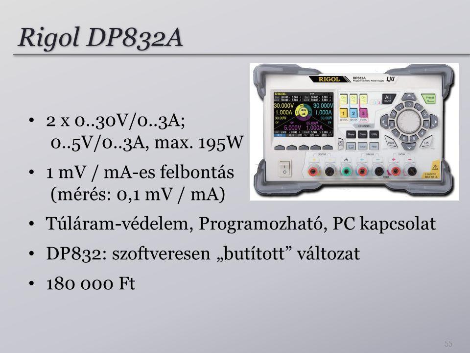 Rigol DP832A 2 x 0..30V/0..3A; 0..5V/0..3A, max. 195W