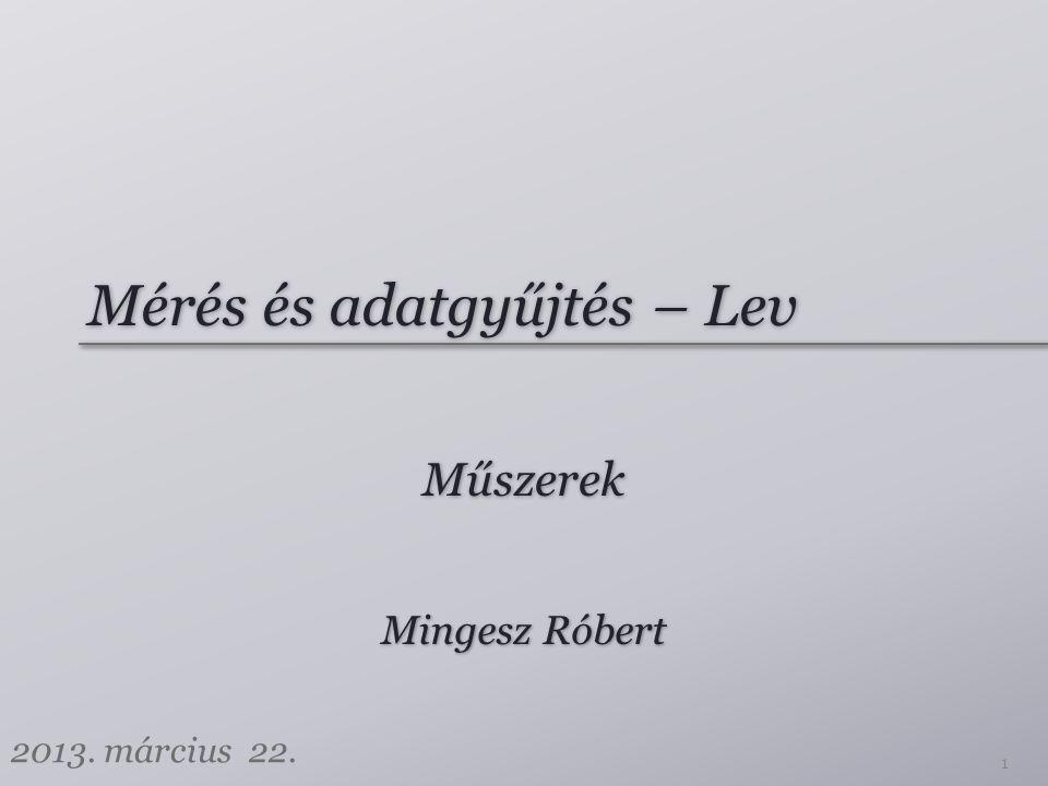 Mérés és adatgyűjtés – Lev