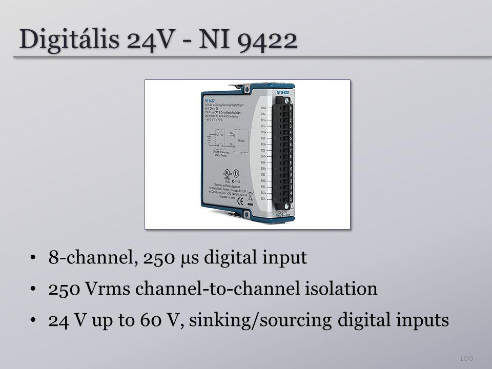 Digitális 24V - NI 9422 8-channel, 250 µs digital input