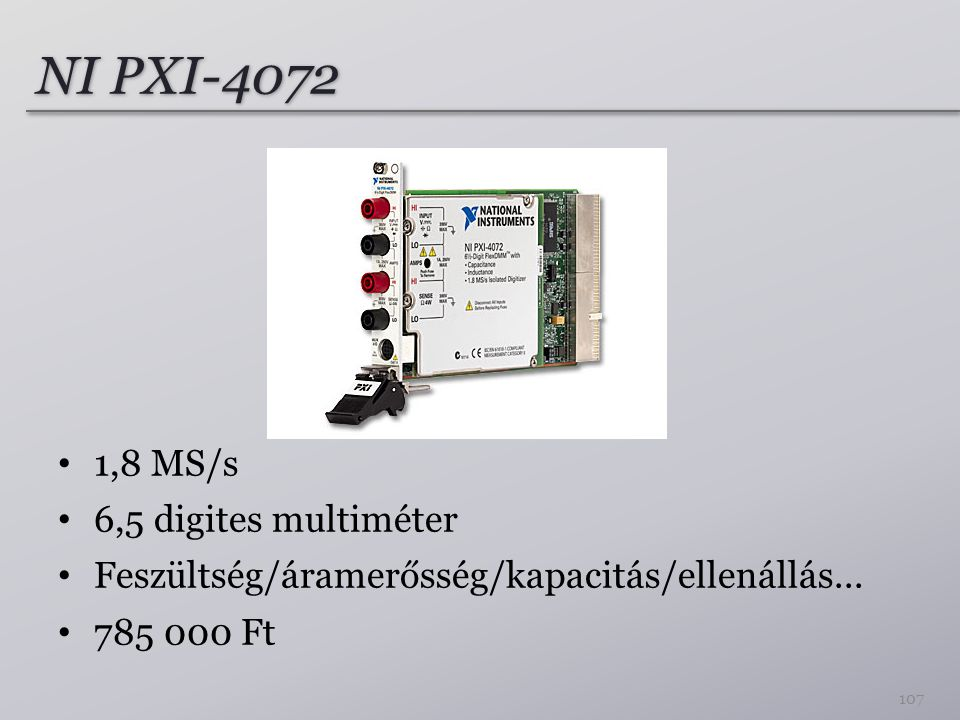 NI PXI-4072 1,8 MS/s 6,5 digites multiméter