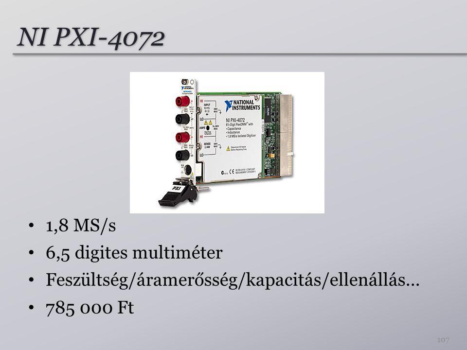 NI PXI-4072 1,8 MS/s 6,5 digites multiméter