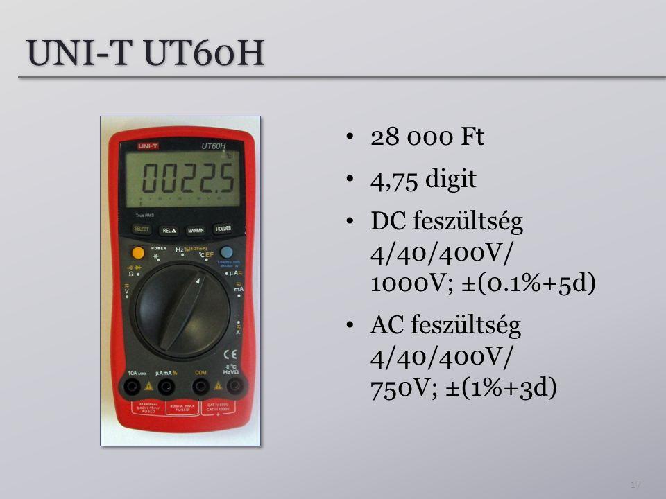 UNI-T UT60H 28 000 Ft. 4,75 digit.