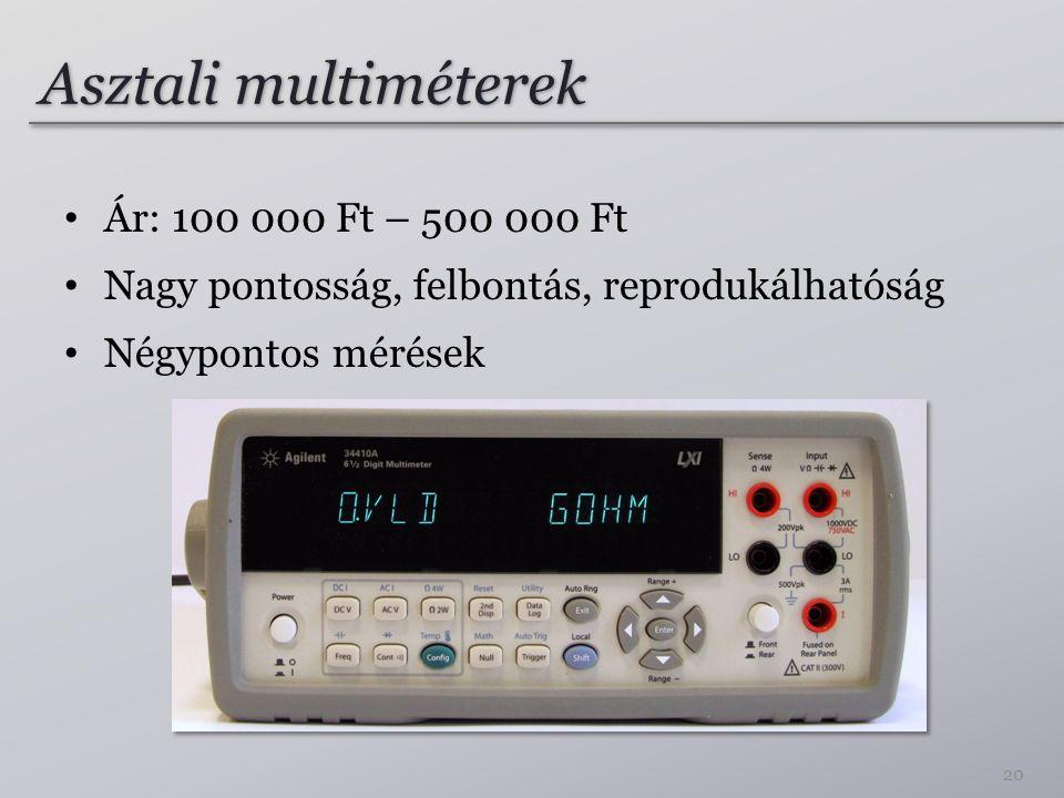 Asztali multiméterek Ár: 100 000 Ft – 500 000 Ft