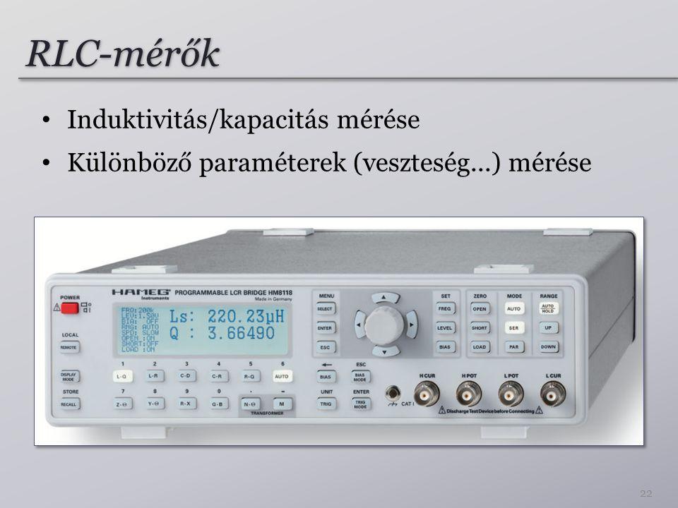 RLC-mérők Induktivitás/kapacitás mérése