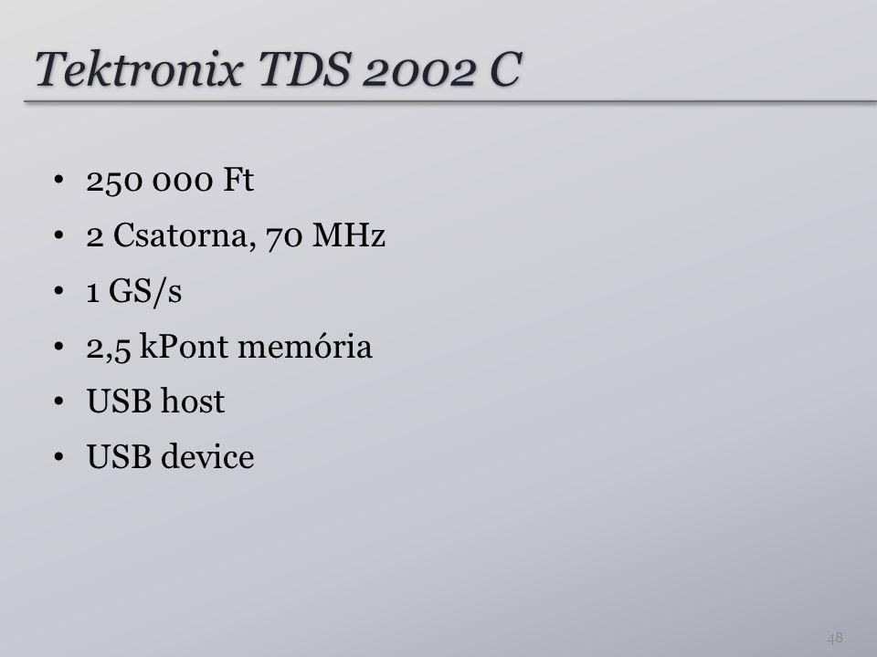 Tektronix TDS 2002 C 250 000 Ft 2 Csatorna, 70 MHz 1 GS/s