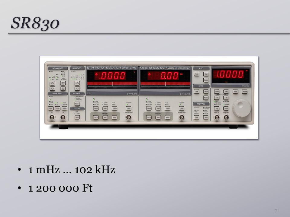 SR830 1 mHz ... 102 kHz 1 200 000 Ft
