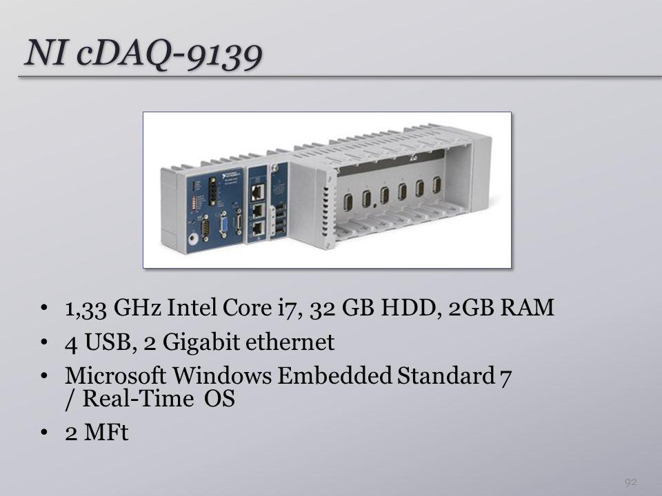 NI cDAQ-9139 1,33 GHz Intel Core i7, 32 GB HDD, 2GB RAM