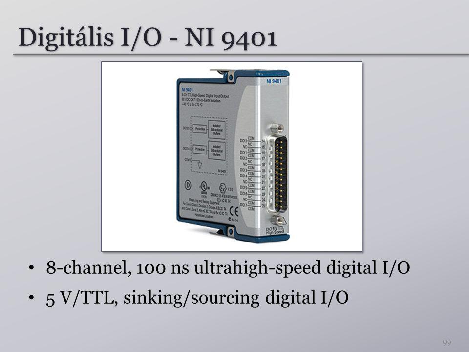 Digitális I/O - NI 9401 8-channel, 100 ns ultrahigh-speed digital I/O