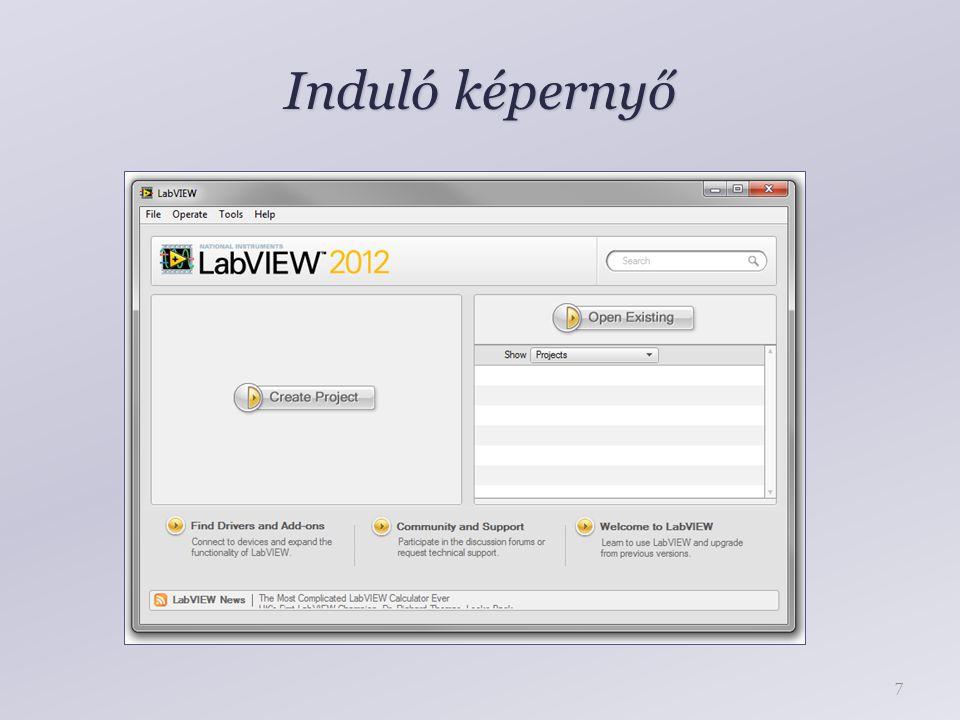 Induló képernyő
