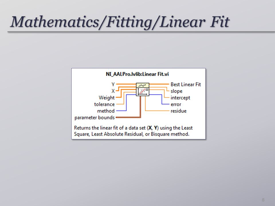 Mathematics/Fitting/Linear Fit
