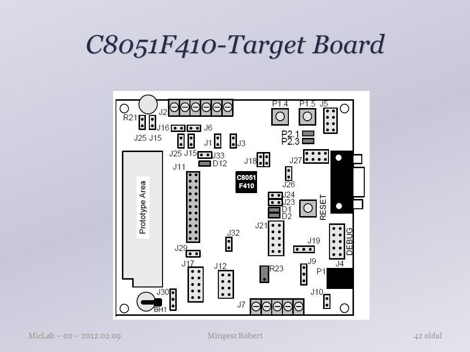 C8051F410-Target Board MicLab – 02 – 2012.02.09. Mingesz Róbert