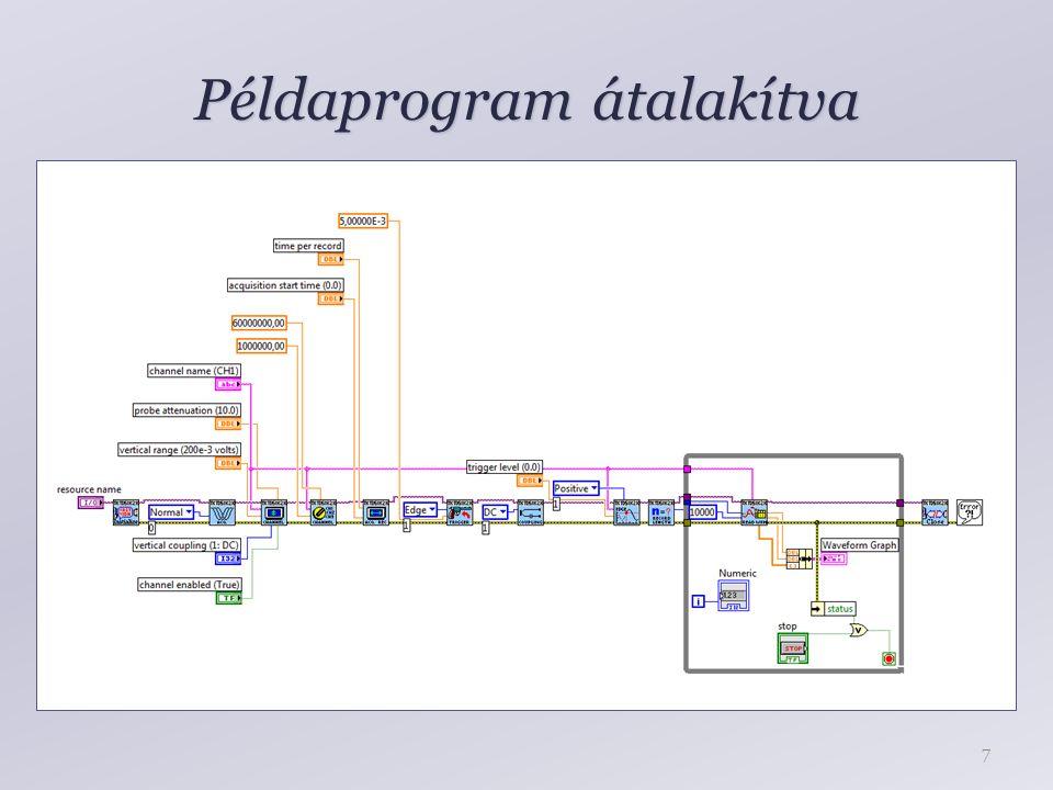 Példaprogram átalakítva