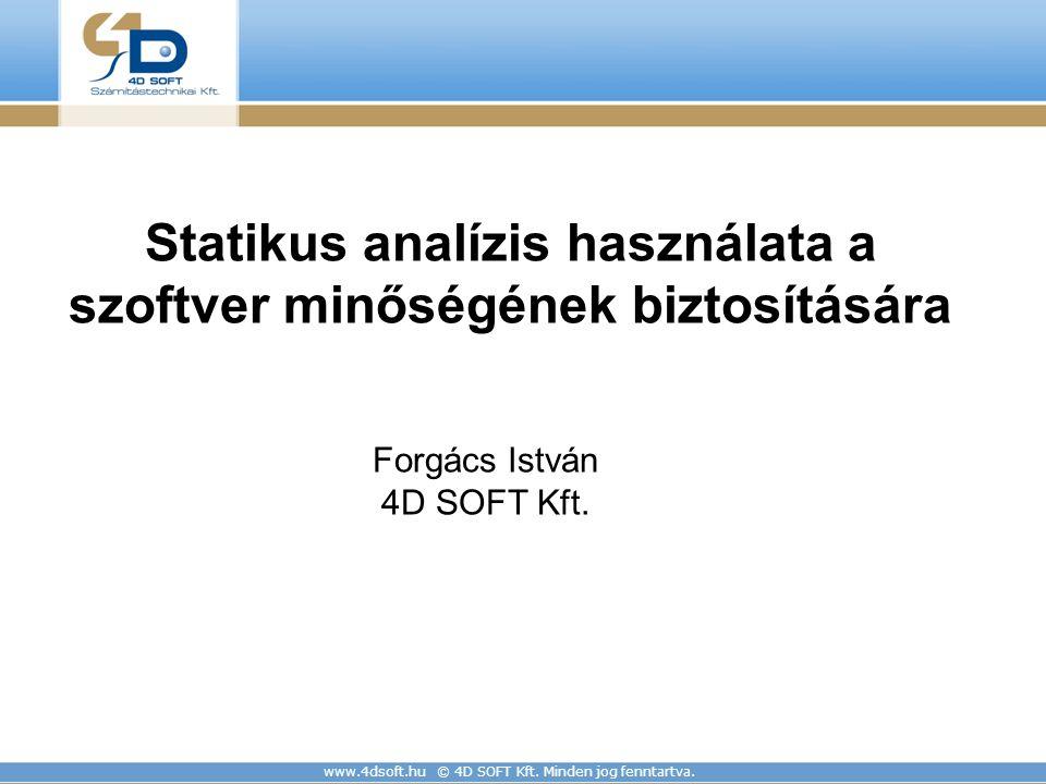Statikus analízis használata a szoftver minőségének biztosítására